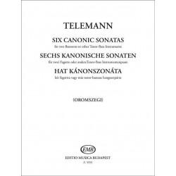 Telemann, Georg Philipp: 6 Sonaten im Kanon : für 2 Fagotte
