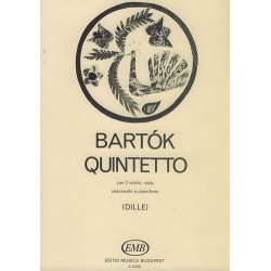 Bart├│k, B├®la: Quintett : f├╝r Streichquartett und Klavier