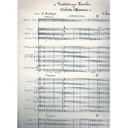 Rimski-Korsakow, Nicolai: Variations : pour hautbois et orchestre d'harmonie partition d'orchestre