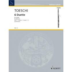Toeschi, Carlo Giuseppe: 6 Duette Band 1 (nr.1-3) : f├╝r 2 Fagotte Spielpartitur