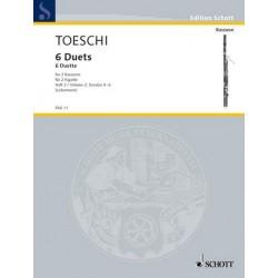 Toeschi, Carlo Giuseppe: 6 DUETTE BAND 2 (NR.4-6) : FUER 2 FAGOTTE, SPIELPARTITUR LEBERMANN, WALTER, ED