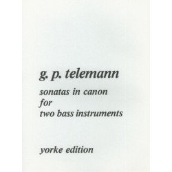 Telemann, Georg Philipp: Sonatas in Canon vol.1 for 2 bass instruments