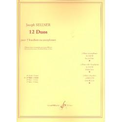 Sellner, Joseph: 12 duos vol.2 (nos.4-6) pour 2 hautbois
