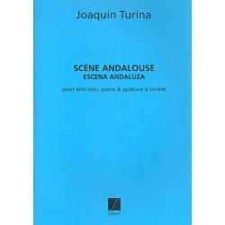 Turina, Joaquin: Scene andalouse : pour alto solo, piano et quatuor a cordes, partition+parties