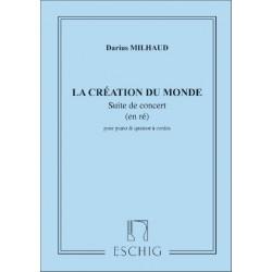 Milhaud, Darius: La création du monde op.81b : suite de concert en ré pour piano et cordes