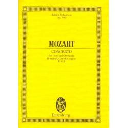 Mozart, Wolfgang Amadeus: Konzert D-Dur KV412 : für Horn und Orchester Studienpartitur