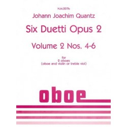 Quantz, Johann Joachim: 6 duetti op.2 vol.2 (nos.4-6) : for 2 oboes (oboe+violin or treble viol) unaccompanied