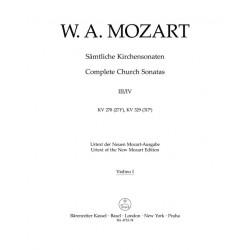Mozart, Wolfgang Amadeus: 2 Sonaten C-Dur KV278 und KV329 für Orgel und Orchester Violine 1