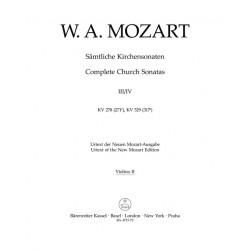 Mozart, Wolfgang Amadeus: 2 Sonaten C-Dur KV278 und KV329 für Orgel und Orchester Violine 2