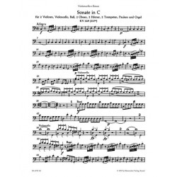 Mozart, Wolfgang Amadeus: 2 Sonaten C-Dur KV278 und KV329 für Orgel und Orchester Cello/Baß