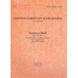 Schickhardt, Johann Christian: Sonate a-Moll op.17,3 : für Altblockflöte (Flöte ) und Bc