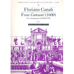 Canali, Floriano: 4 Canzonas for 4 instruments (ATTB, 1660) score and 4 parts