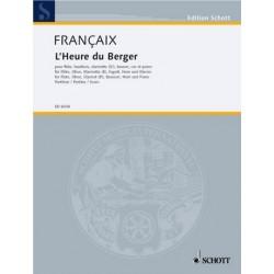 Francaix, Jean: L'Heure du berger : für 5 Bläser und Klavier Partitur