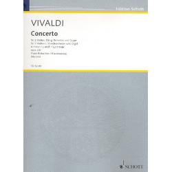 Vivaldi, Antonio: Konzert a-Moll op.3,8 RV522 für 2 Violinen und Streichorchester : für 2 Violinen und Klavier