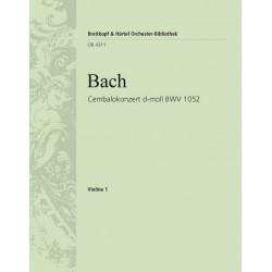 Bach, Johann Sebastian: Konzert d-Moll BWV1052 : für Cembalo und Streichorchester Violine 1