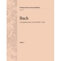 Bach, Johann Sebastian: Konzert d-Moll BWV1052 : für Cembalo und Streichorchester Violine 2