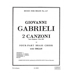 Gabrieli, Giovanni: 2 canzoni septimi toni for 2 trumpets, 2 trombones and organ score and parts