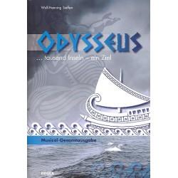 Steffen, Wulf-Henning: Odysseus - tausend Inseln, ein Ziel : für Darsteller, Soli, Kinderchor und Instrumente Partitur mit