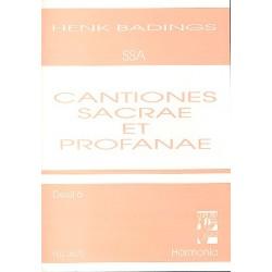Badings, Henk: Cantiones sacrae et profanae vol.6 : für Frauenchor (SSA) Partitur