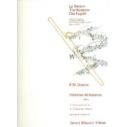 Dubois, Pierre Max: Histoires de bassons : pour 4 bassons partition et 4 parties