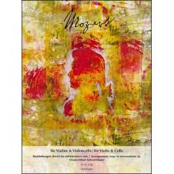 Mozart, Wolfgang Amadeus: Mozart für Violine und Violoncello 2 Spielpartituren