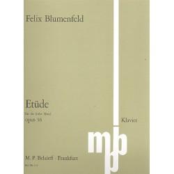 Blumenfeld, Feliks Mikhail: Étude en la bemolle majeur op.36 : pour piano main gauche