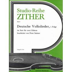 Deutsche Volkslieder Folge 1 : für 2 Zithern Spielpartitur