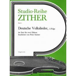 Deutsche Volkslieder Band 2 : für 2 Zithern