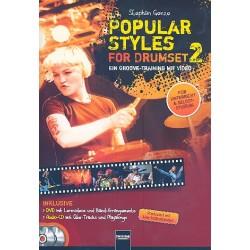 Genze, Stephan: Popular Styles Band 2 (+DVD +CD) : für Schlagzeug