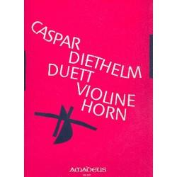 Diethelm, Caspar: Duett op.104 : für Violine und Horn in F 2 Spielpartituren