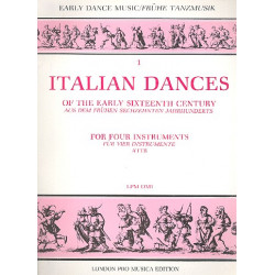 Italian Dances of the early 16th Century for 4 instruments(AATB score