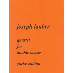 Lauber, Joseph: Quartet : for 4 double basses score and 4 parts