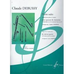 Debussy, Claude: Petite suite : pour 4 clarinettes (BBBBass) partition et parties