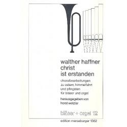 Haffner, Walther: Christ ist erstanden : 00713640 2 Posaunen und Orgel, Partitur