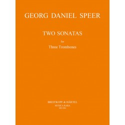 Speer, Daniel Georg: 2 sonatas : for 3 trombones