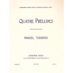 Tournier, Marcel: 4 préludes op.16 vol.1 (nos.1-2) : pour 2 harpes