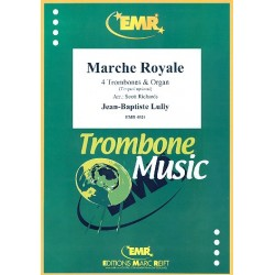Lully, Jean Baptiste: Marche Royale for 4 trombones and organ