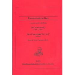 Mackovecky, Jan: Duo concertant F-Dur Nr.1 : für Horn und Viola (Klarinette) Partitur und Stimmen
