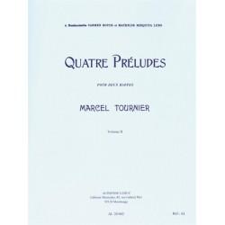 Tournier, Marcel: 4 préludes op.16 vol.2 (nos.3+4) pour 2 harpes