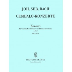 Bach, Johann Sebastian: Konzert A-Dur BWV1055 : f├╝r Klavier und Orchester Partitur