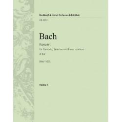 Bach, Johann Sebastian: Konzert A-Dur BWV1055 : f├╝r Klavier und Orchester Violine 1
