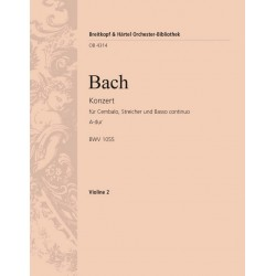 Bach, Johann Sebastian: Konzert A-Dur BWV1055 : f├╝r Klavier und Orchester Violine 2