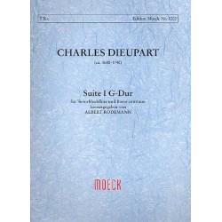 Dieupart, Charles Francois: Suite G-Dur Nr.1 : f├╝r Tenorblockfl├Âte und Bc