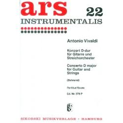 Vivaldi, Antonio: Konzert D-Dur für Gitarre und Streichorchester Partitur