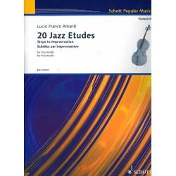 Amanti, Lucio Franco: 20 Jazz Etudes : für Violoncello