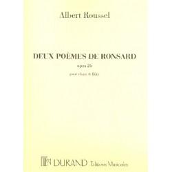 Roussel, Albert Charles Paul: 2 poèmes de Ronsard op.26 pour chant et flûte