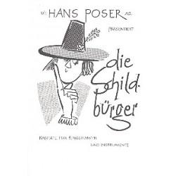 Poser, Hans: Die Schildbürger : Singspiel für 1-3stimmigen Chor und Instrumente Partitur (dt)