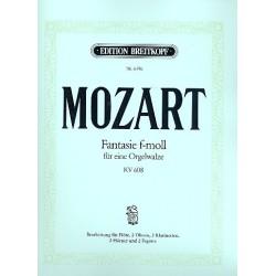 Mozart, Wolfgang Amadeus: Fantasie f-Moll für eine Orgelwalze KV608 : für 9 Blasinstrumente übertragen