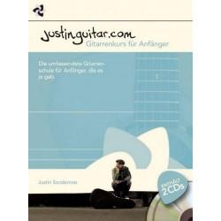 Sandercoe, Justin: Justinguitar - Gitarrenkurs für Anfänger (+2 CD's) : für Gitarre/Tabulatur