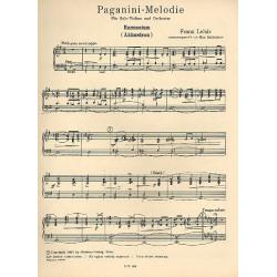 Lehár, Franz: Paganini-Melodie für Violine und Salonorchester